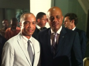 Prof. Messac with the President of Haiti